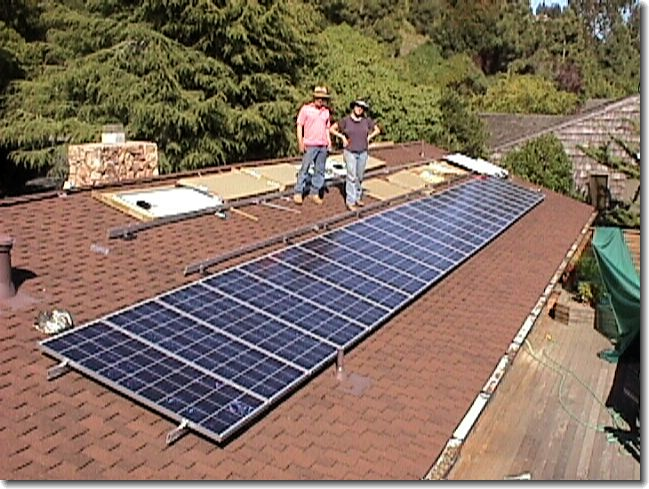 Picture of Photovoltaic work in progress
