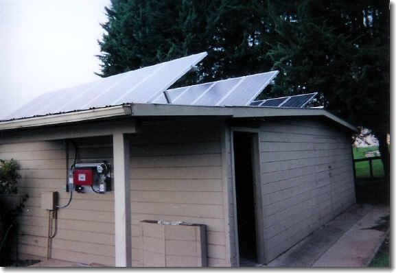Side view of Solar Array on auxiliary building