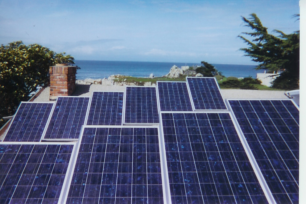 Solar panels near Hopkins Marine Station on Monterey Bay