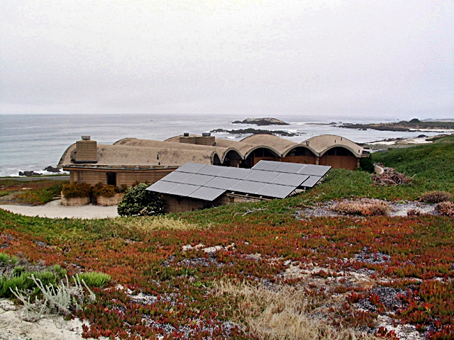 Solar Panels near Bird Rock, Pebble Beach, California