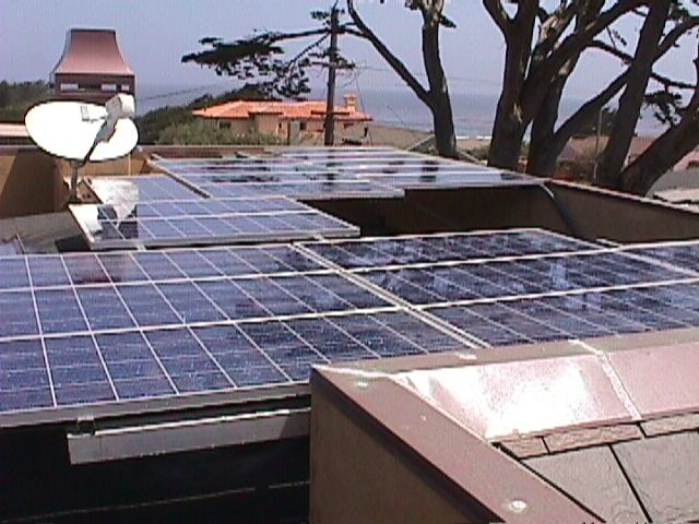 Solar Panels on the Stirlen residence, Pacific Grove, Monterey County, California